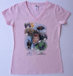 Big 6 Birds Pink Ladies Tshirt