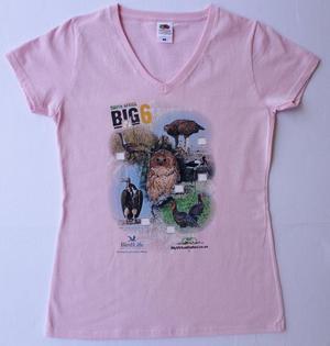 Big 6 Birds Pink Ladies Tshirt