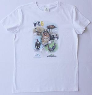 Big 6 Birds White Tshirt